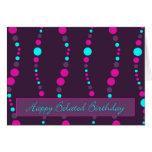 cartão tardivo feliz chain do aniversário