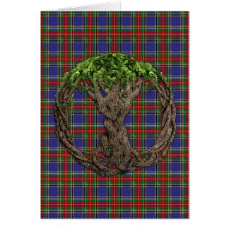 Cartão Tartan de Macbeth do clã e árvore do céltico de