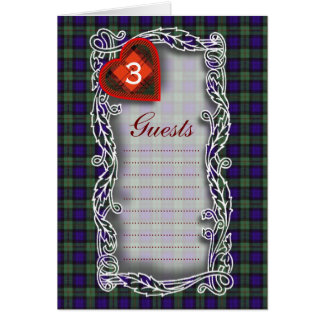 Cartão Tartan do Scottish de MacEwen