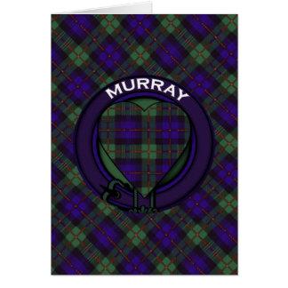 Cartão Tartan do Scottish de Murray