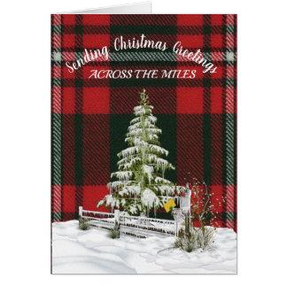 Cartão Tartan Natal da princesa Margaret Aumentação
