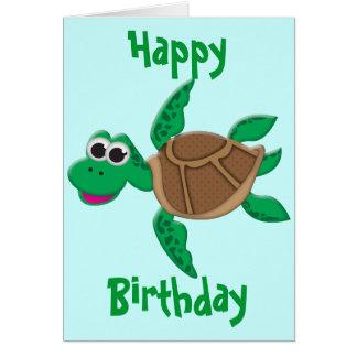 Cartão Tartaruga bonito dos desenhos animados