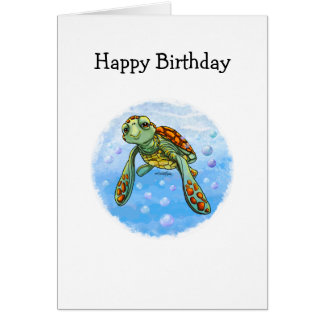Cartão Tartaruga de mar