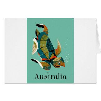 Cartão Tartaruga de mar australiana animador