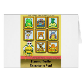 Cartão Tartaruga de Tommy: O exercício é divertimento!
