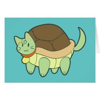 Cartão Tartaruga do gato