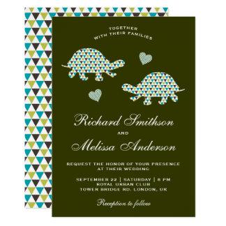 Cartão Tartarugas românticas bonitos que Wedding o