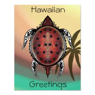 Cartão Tatuagem da tartaruga da fantasia