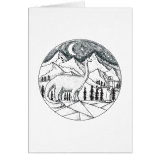 Cartão Tatuagem das montanhas do astronauta do