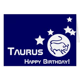 Cartão Taurus, feliz aniversario! - Personalize