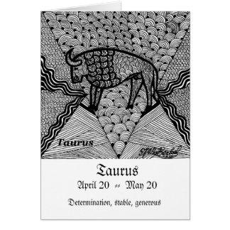 Cartão Taurus (sinal do zodíaco)