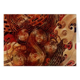 Cartão Tawhiri-Matea por Elizabeth Kyle.