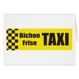 Cartão Táxi Bichon Frise