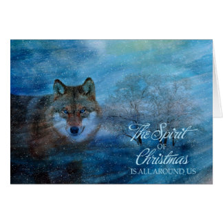 Cartão TCWC - Natal azul do lobo