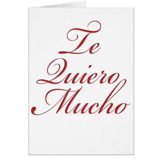 Cartão Te Quiero Mucho