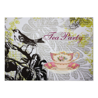Cartão Tea party chique do chá de panela de Boho do