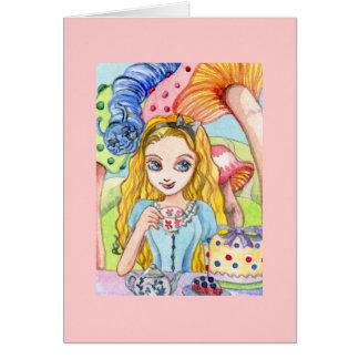 Cartão Tea party com Alice