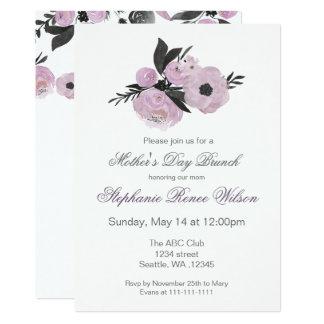 Cartão Tea party floral da refeição matinal do dia das