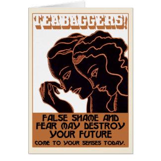 Cartão Teabaggers! Vergonha e medo falsos [cartão]