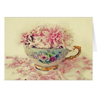 Cartão Teacup do dia das mães das flores