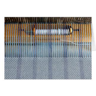 Cartão Tear da mesa com tecelagem da sarja