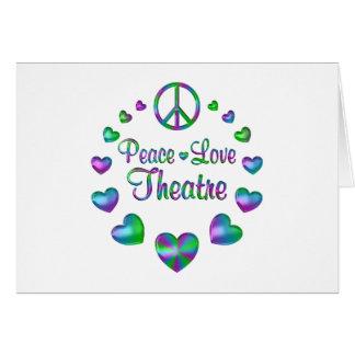 Cartão Teatro do amor da paz