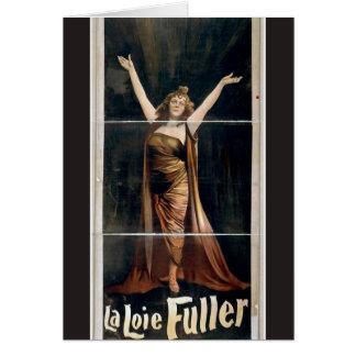 Cartão Teatro mais completo do vintage de Loie do La