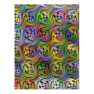Cartão tecido do Daze do arco-íris