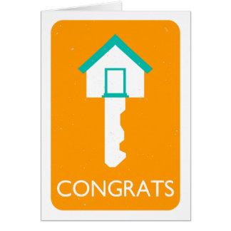 Cartão tecla HOME dos congrats