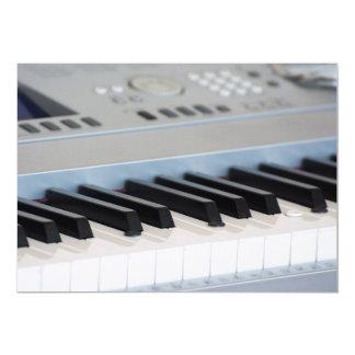 Cartão Teclado do sintetizador