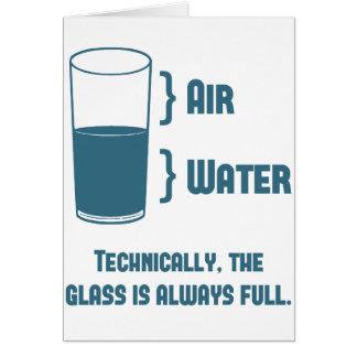 Cartão Tècnica o vidro está sempre completo