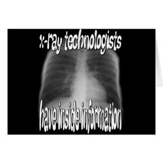 Cartão tecnólogos do raio X…