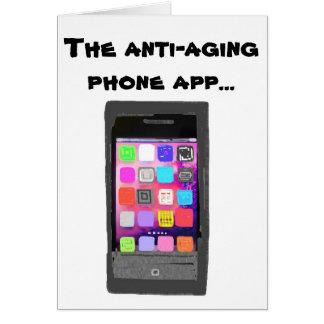 Cartão Telefone antienvelhecimento engraçado App do feliz