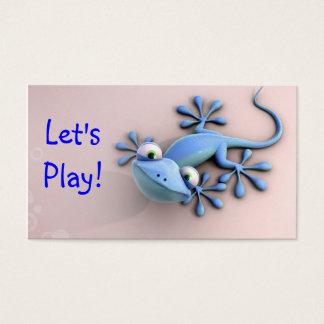 cartão telefónico azul das mamães da iguana