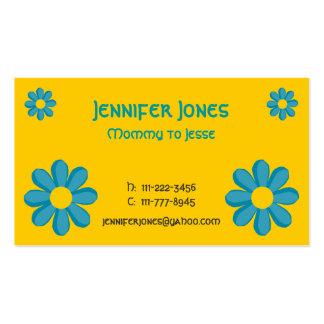 Cartão telefónico da flor dos desenhos animados cartão de visita