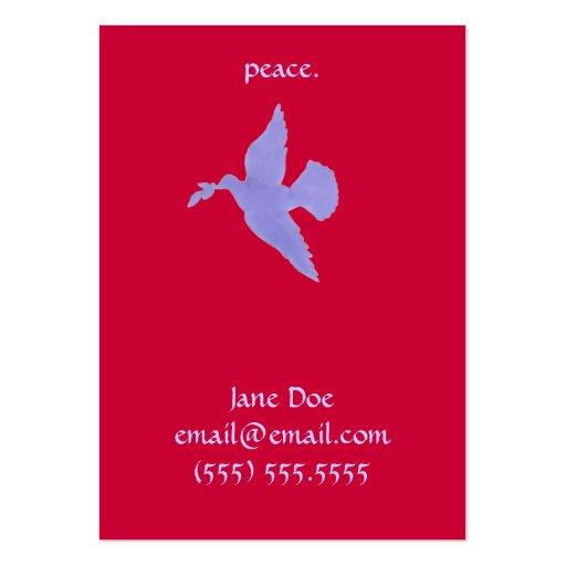 Cartão telefónico da pomba da paz cartões de visitas