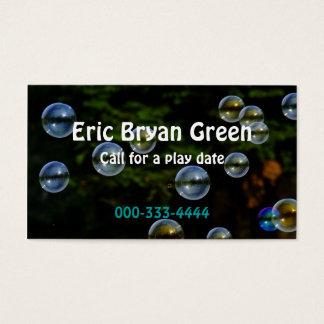 Cartão telefónico das bolhas de sabão