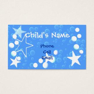 Cartão telefónico das estrelas e das crianças das