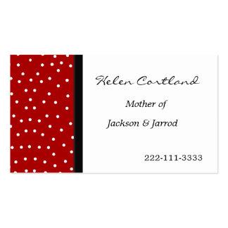Cartão telefónico das mamães cartões de visita
