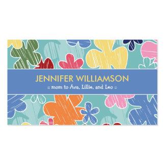 Cartão telefónico das mamães do esboço do pastel ( cartões de visita