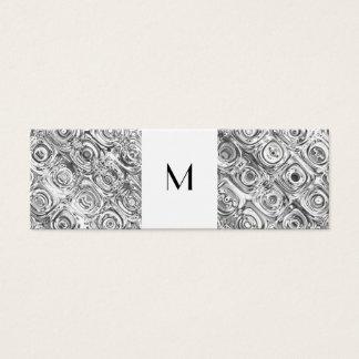 Cartão telefónico de prata do monograma do teste