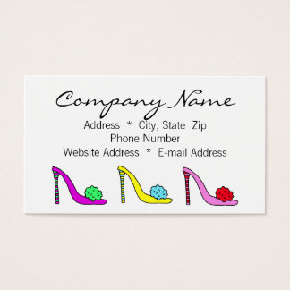 Cartão telefónico do negócio dos calçados dos