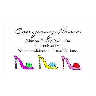 Cartão telefónico do negócio dos calçados dos cartão de visita