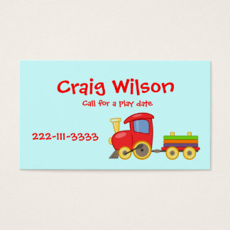 Cartão telefónico do trem dos desenhos animados