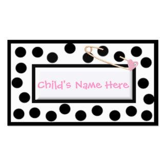 Cartão telefónico lunático das bolinhas das crianç cartões de visitas