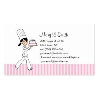 Cartão telefónico pessoal do cozinheiro chefe de p modelo cartoes de visitas