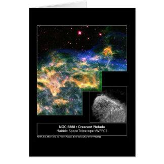 Cartão Telescópio crescente de Hubble da nebulosa 6888