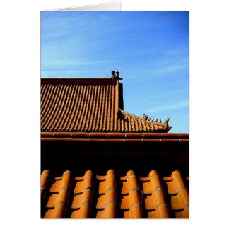 Cartão telhado do templo