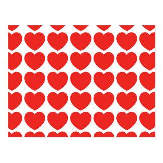 Cartão telhado dos corações cartão postal