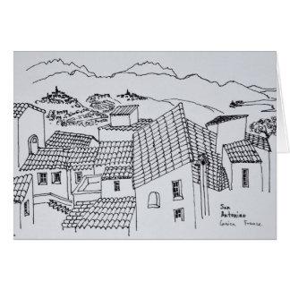 Cartão Telhados de Sant'Antonino | Córsega, France